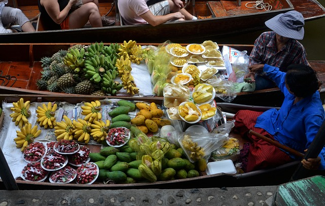 Thai Floating Fruit Market