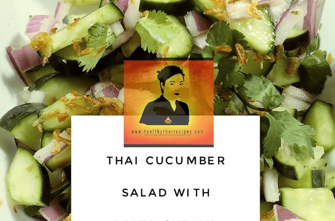 Thai Cucumber Salad with Dried Shrimp Crisps