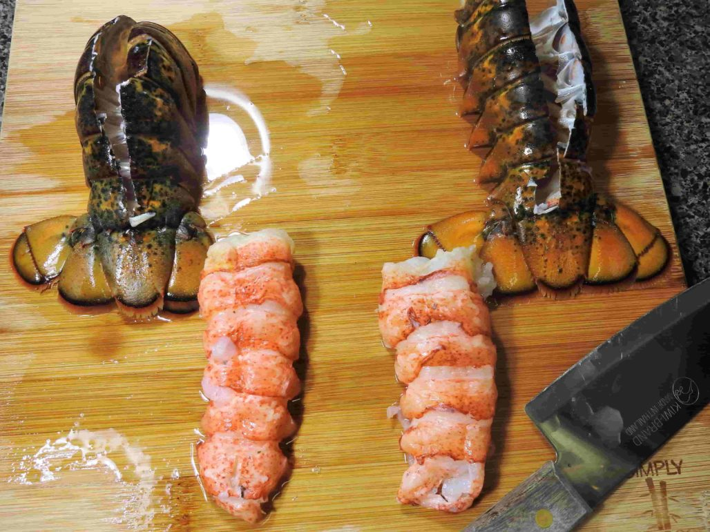 Lobster Tails with Meat Removed