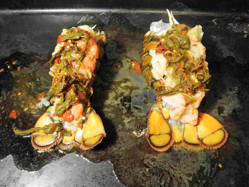 Baked Thai Basil Lobster Tails
