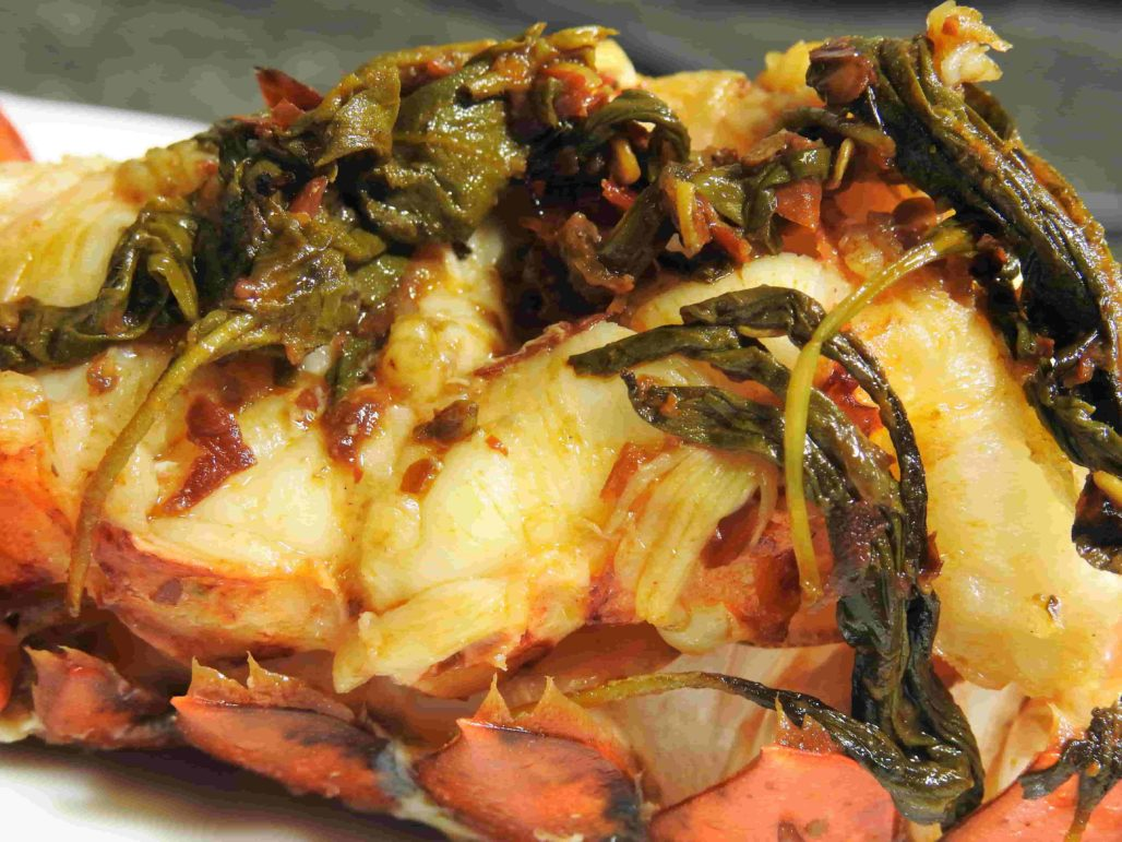 Lobster Tail with Thai Holy Basil Chili Butter