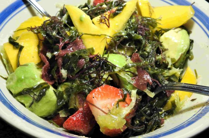 Mixed Sea Veggies and Fruit Salad