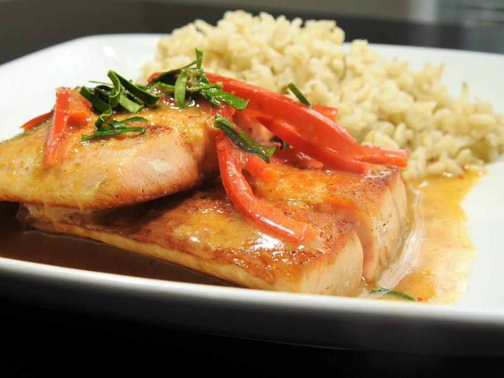 Panang Curry Salmon