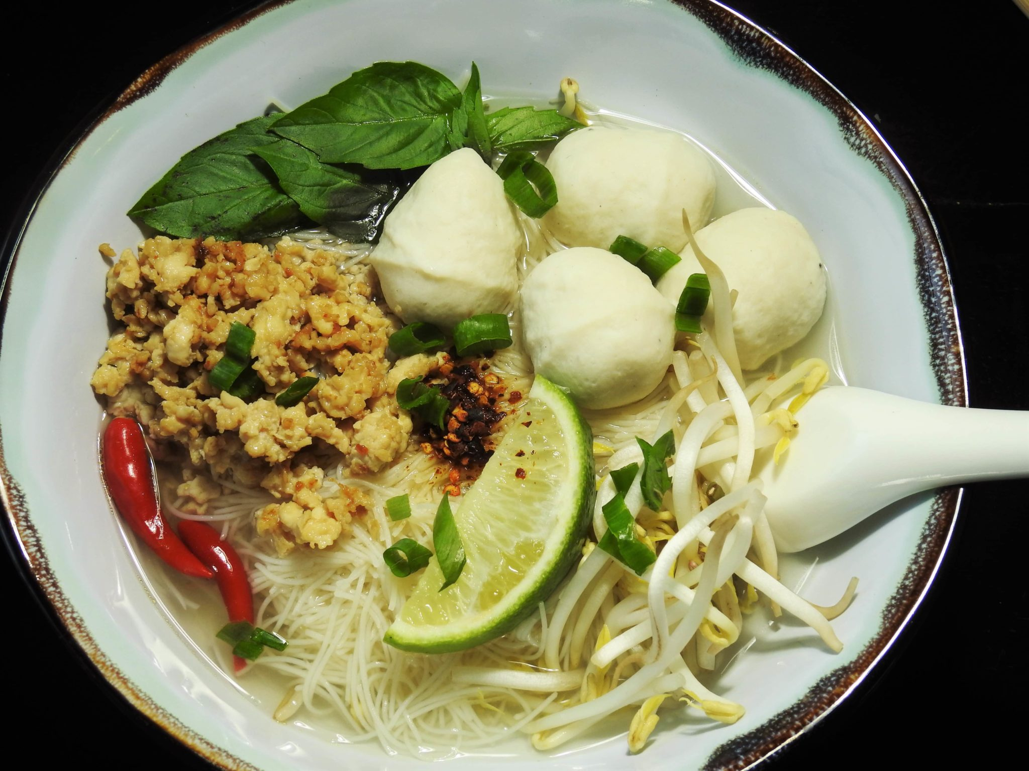 Easy Noodle Soup Ground Chicken And Fish Balls Healthy Thai Recipes