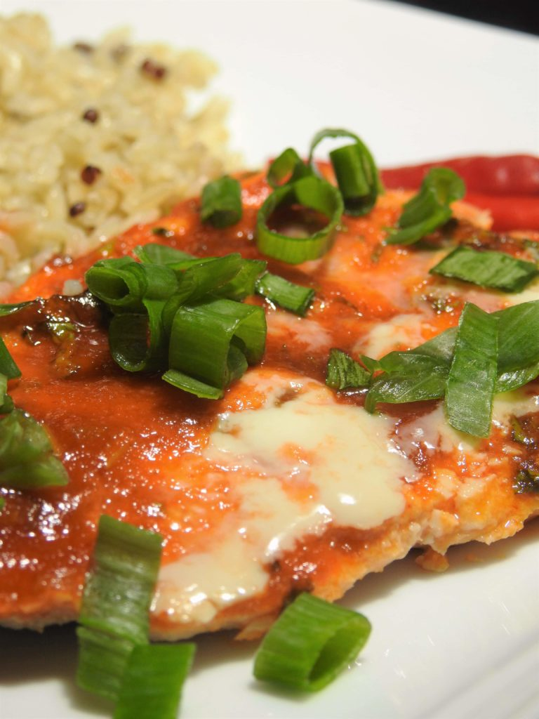Simply Sweet Sriracha Salmon