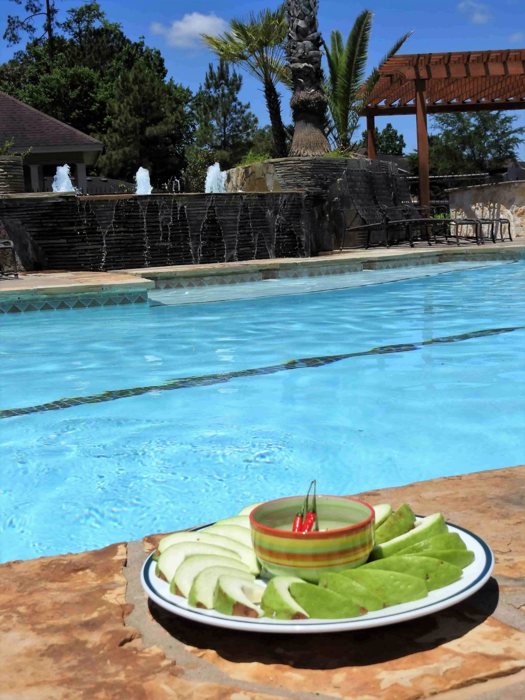Thai Fruit Dip As a Pool Snack