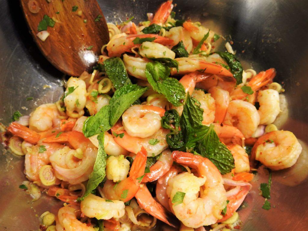Pla Goong, Thai Spicy Shrimp Salad