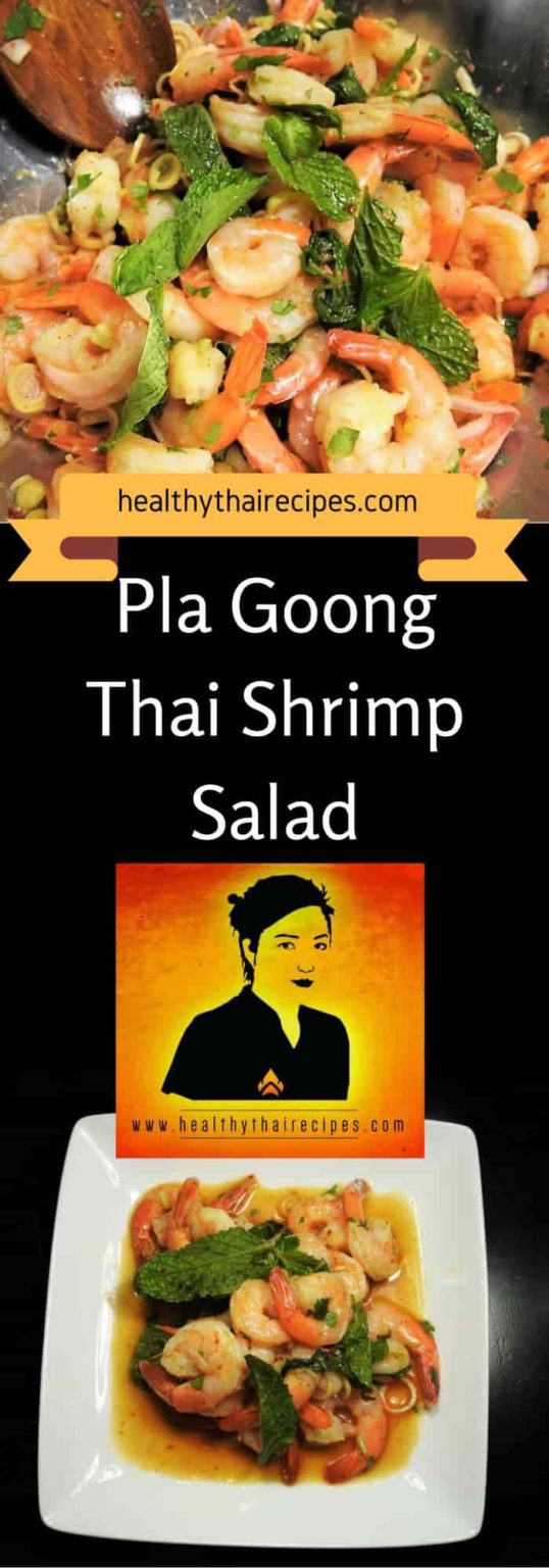 Pla Goong, Thai Shrimp Salad