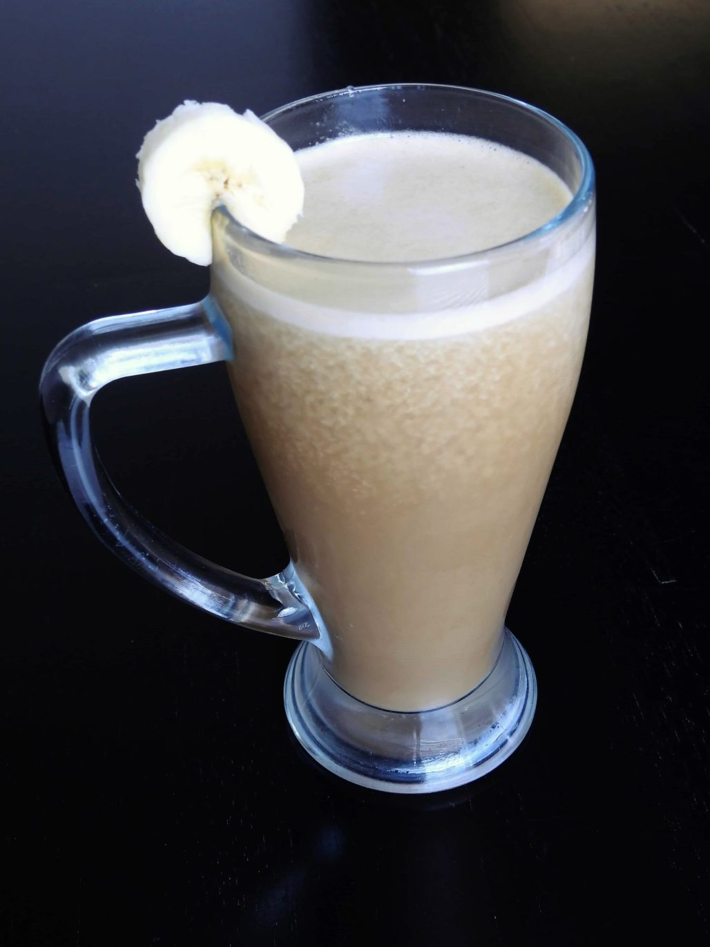 A Rosted Coconut Banana Protein Coffee Slush