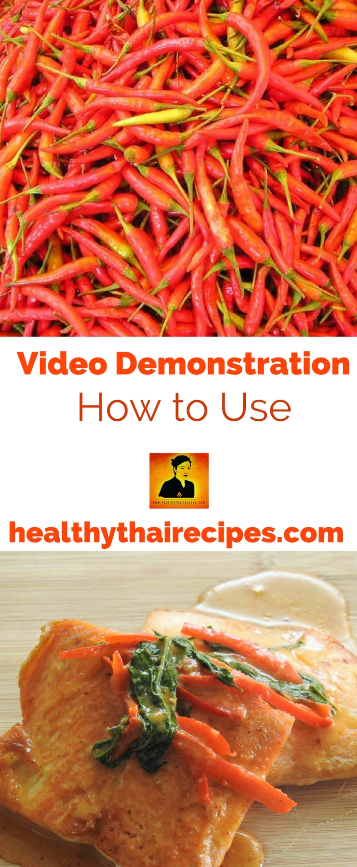 Demonstration Video for HealthyThaiRecipes.com Pinterest Video.