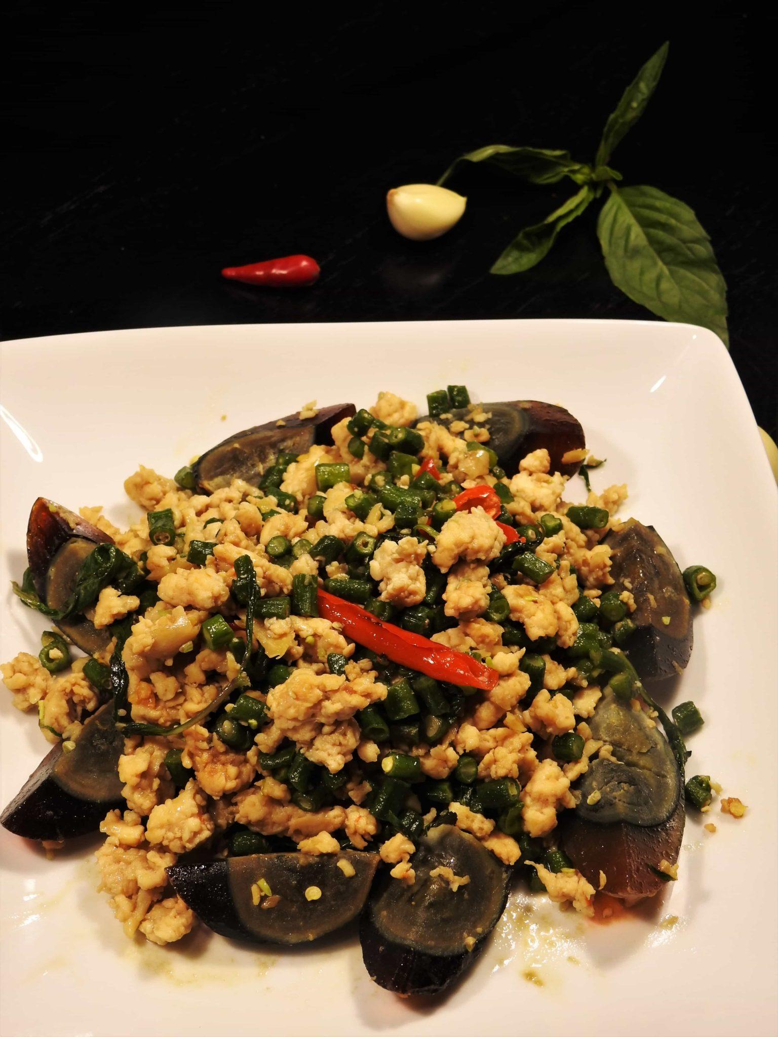 Pad Kra Pow Century Eggs