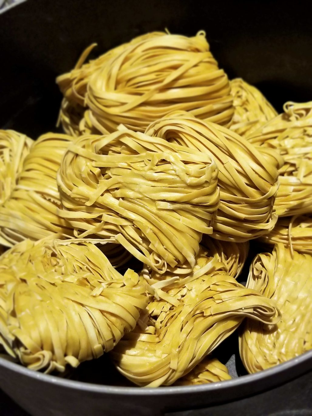 Dry egg noodles