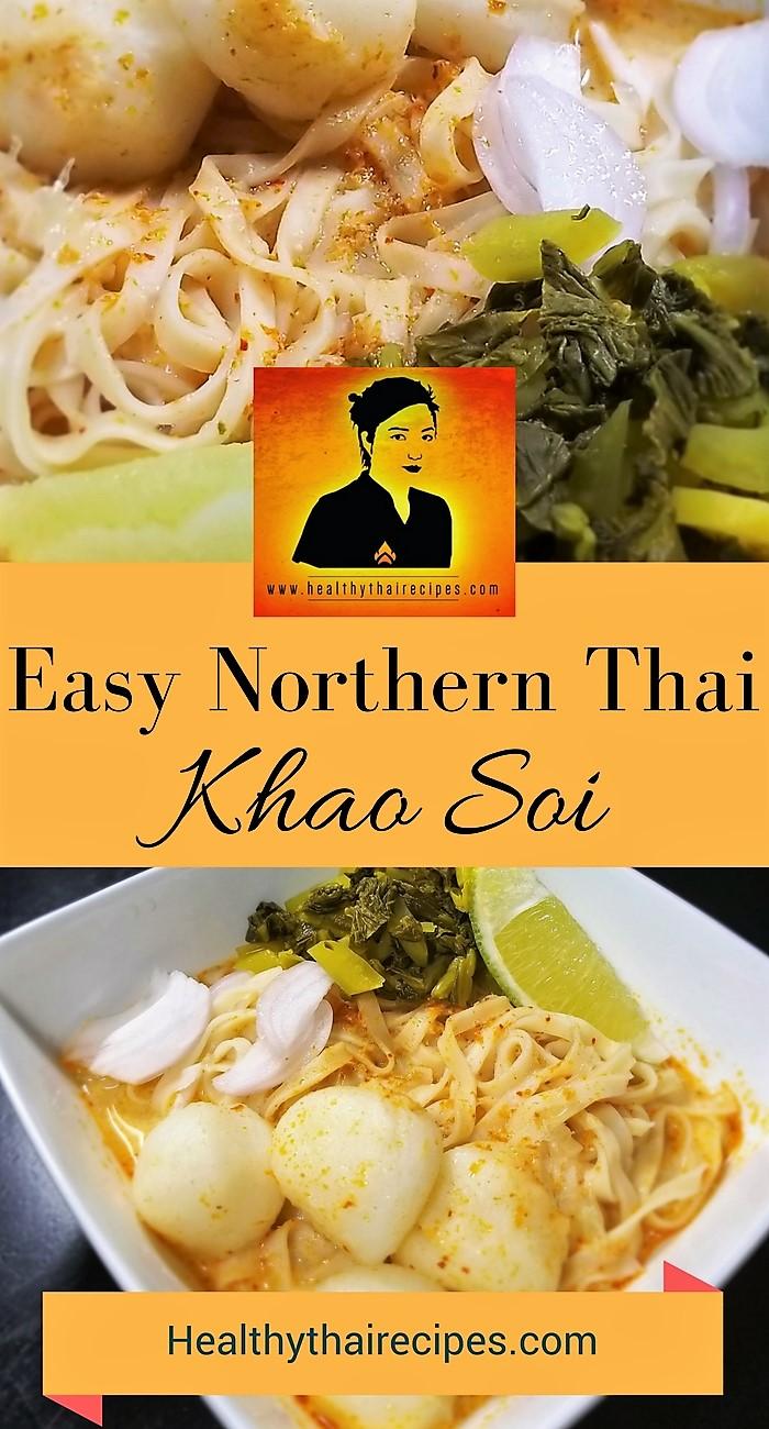 Easy Khao Soi Pinterest Image