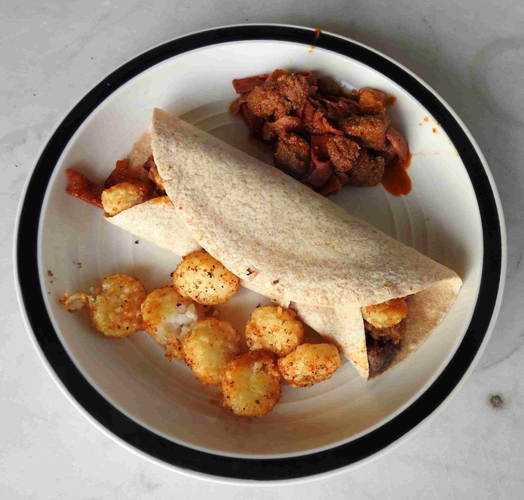Thai Red Curry Fusion Burrito