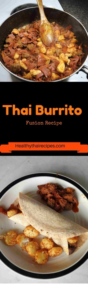 Thai red curry is a fun way to make your gourmet breakfast burrito more exotic. The Thai spices make a great alternative to conventional salsas too. Try it!