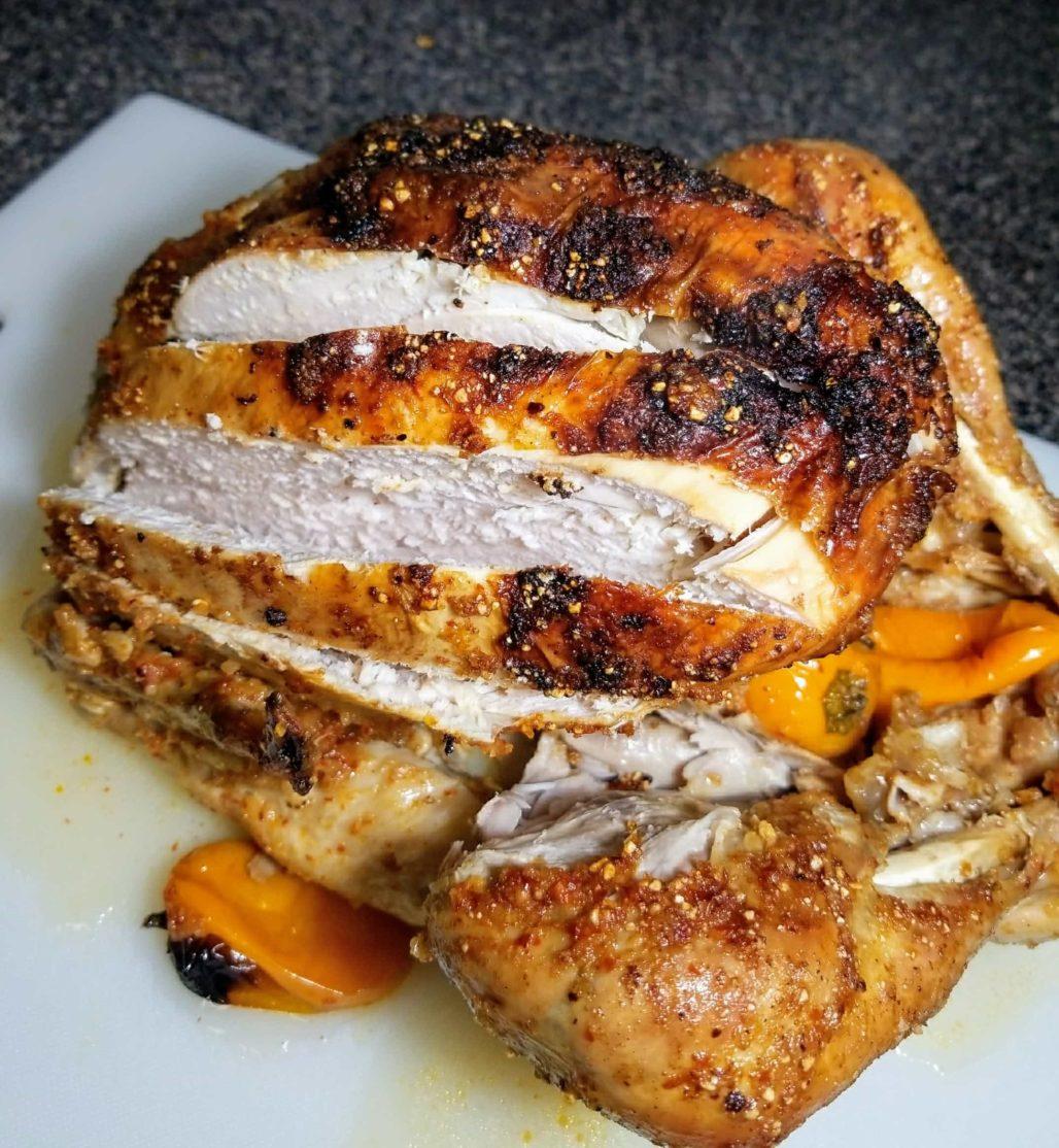 Sliced Thai Spicy Baked Turkey