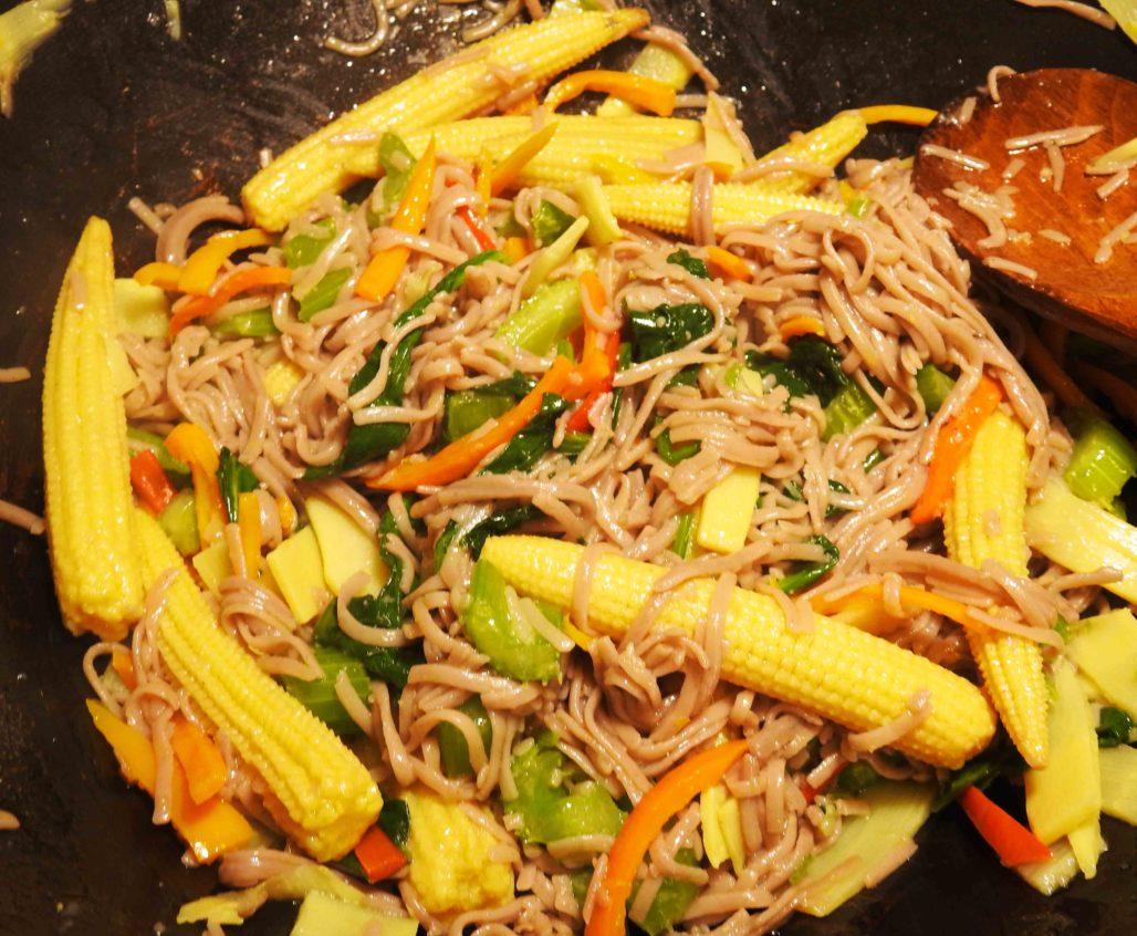 Stir-Fried buckwheat noodles