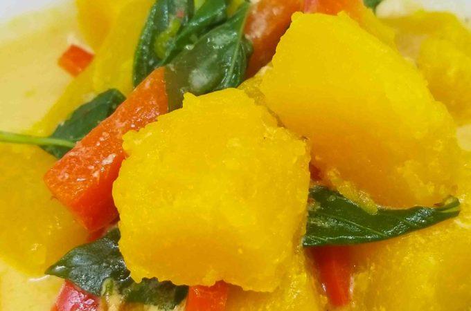Thai Pumpkin Curry Closeup Image