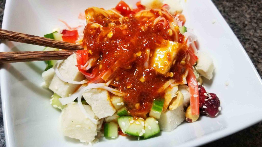 Thai Yam Salad with Sriracha Dressing