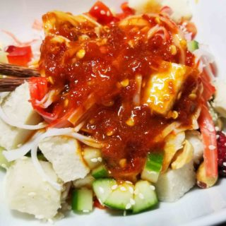 Thai Yam Salad with Sriracha Dressing