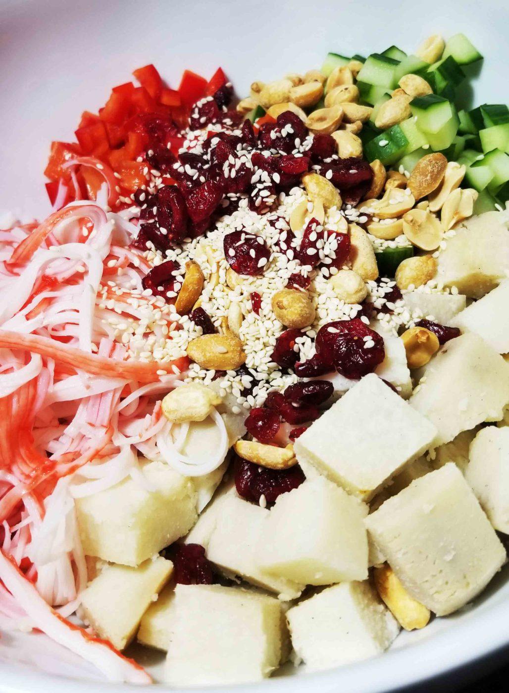 Yam Salad Serving Suggestion