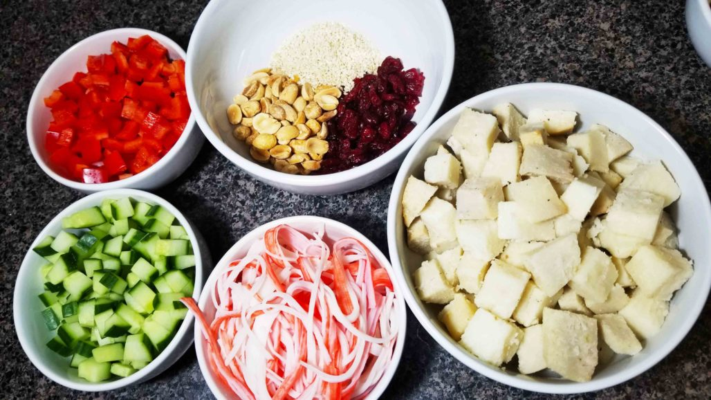 Thai Yam Salad Ingredients
