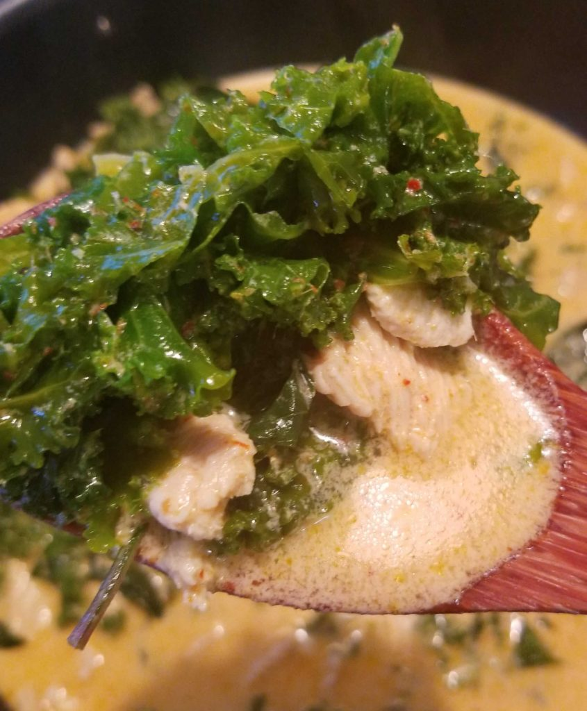 Thai Red Curry Chicken with Kale