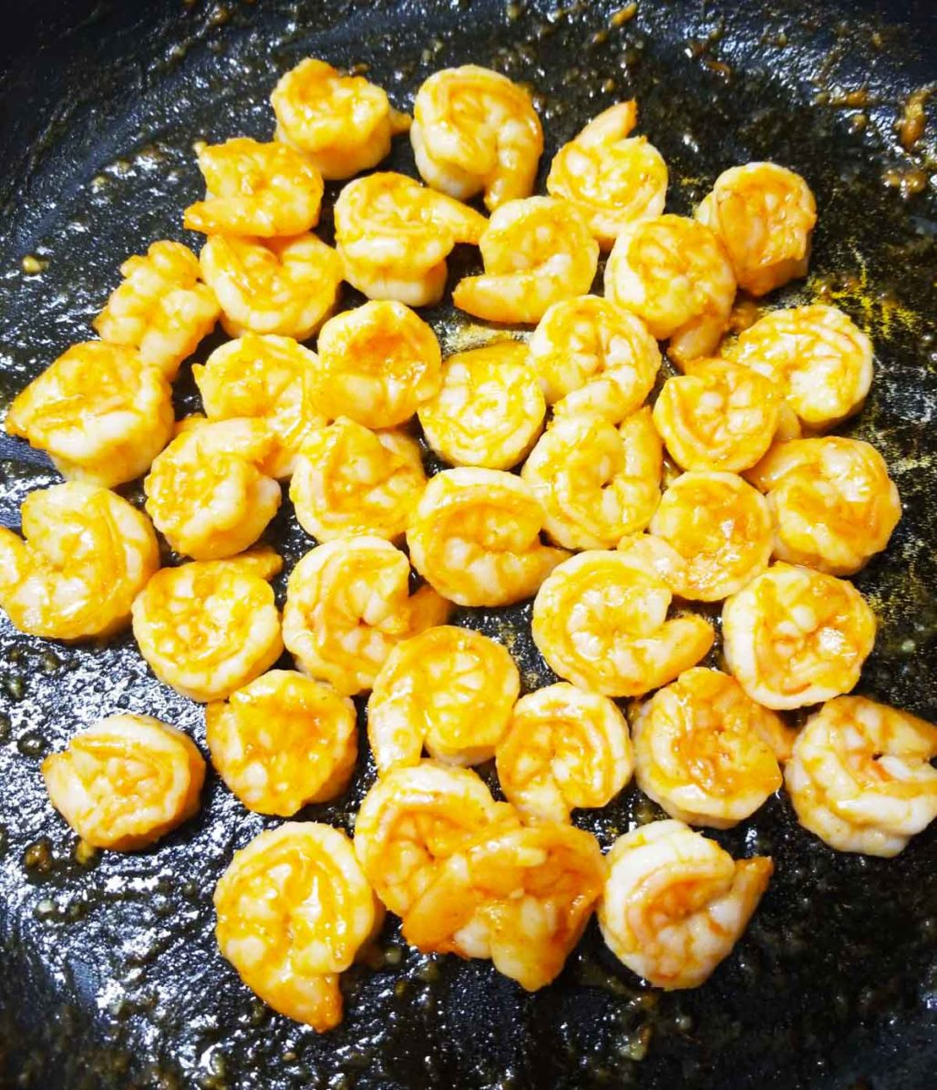 Skillet Sriracha Shrimp