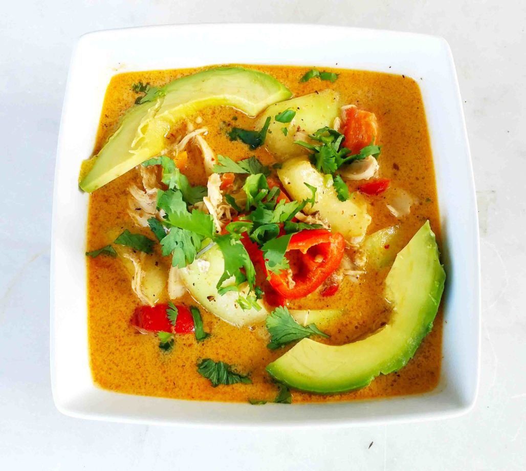 Panang Chicken Curry with Winter Melon