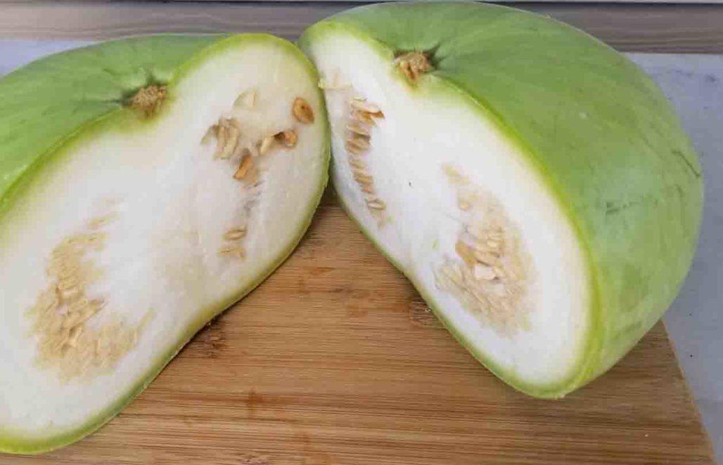 Winter Melon Cut in Half