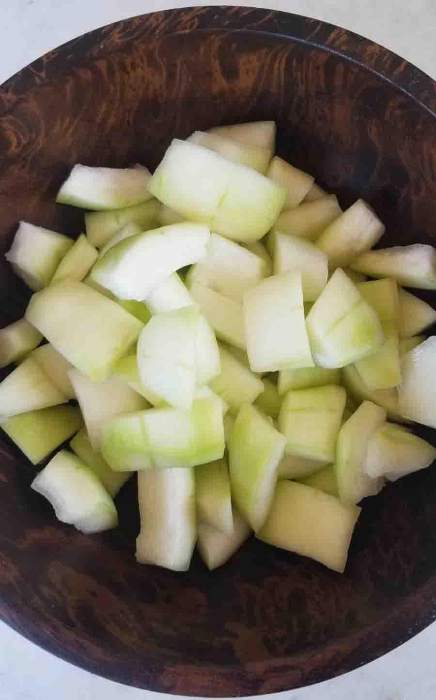 Winter Melon cut into cubes