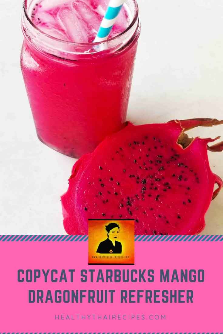 Copycat Starbucks Dragonfruit Mango Refresher Recipe
