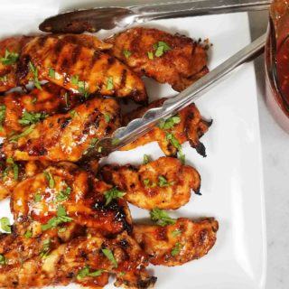 3 Ingredient Honey Garlic and Thai Chili Chicken Tenders