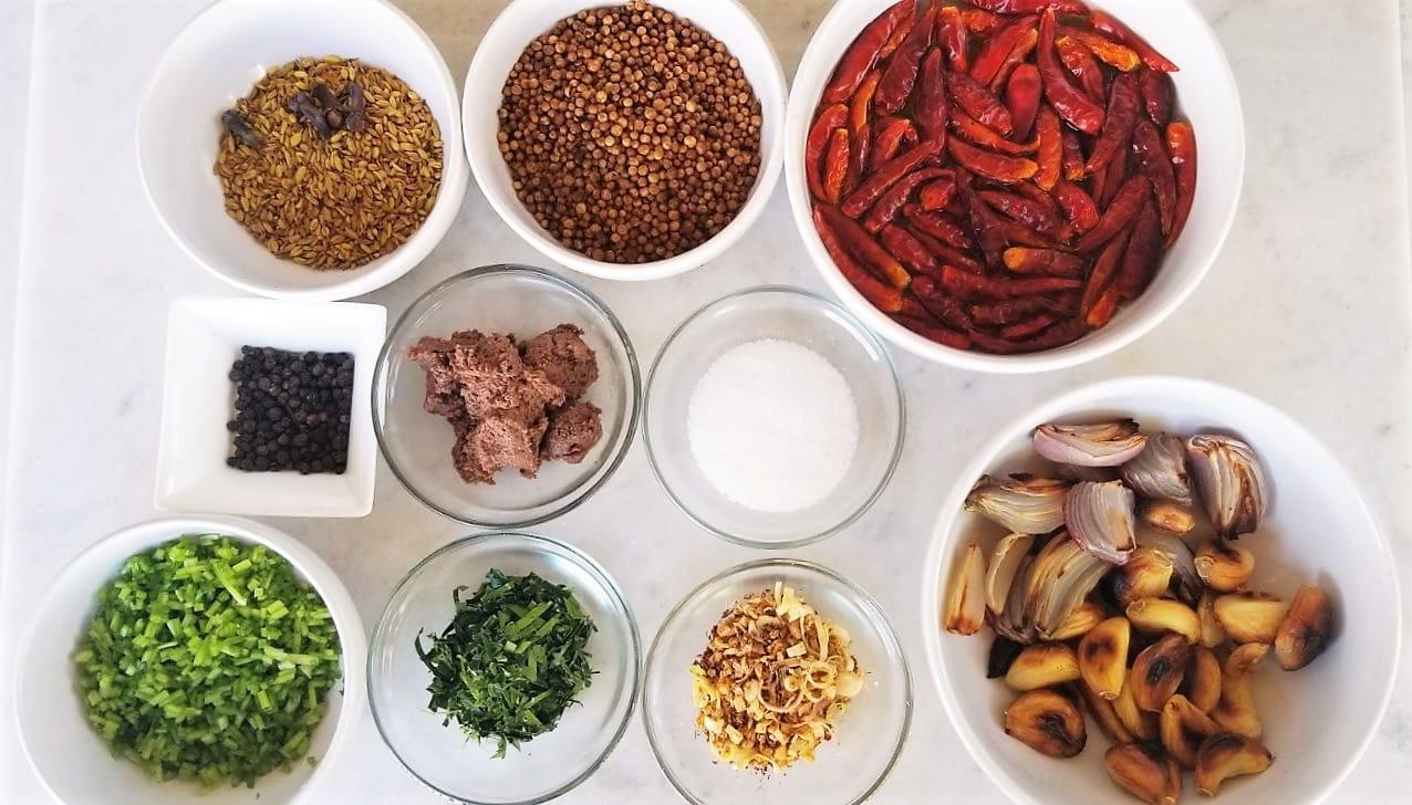 Masaman Curry Paste Ingredients