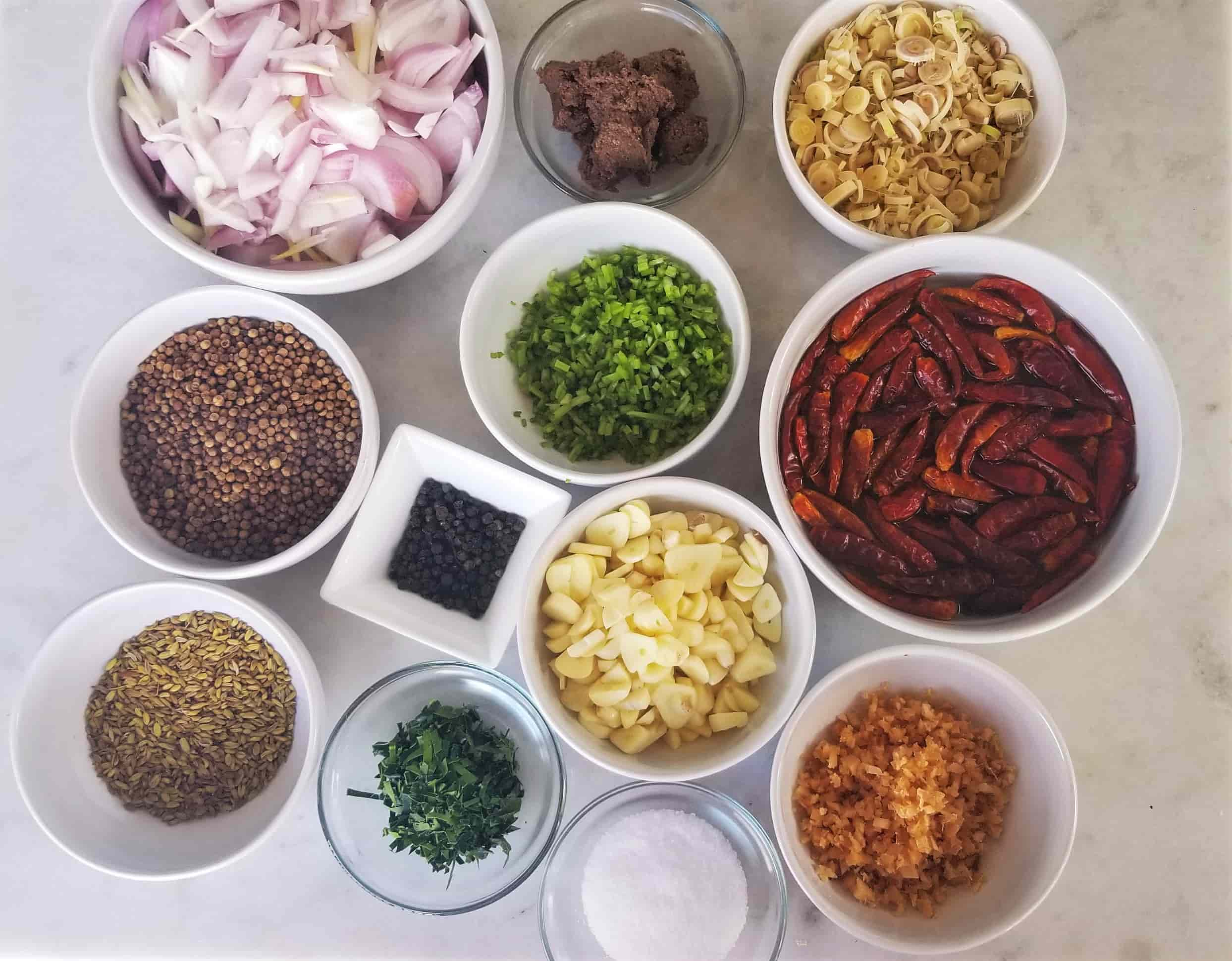 Red Curry Paste Ingredients