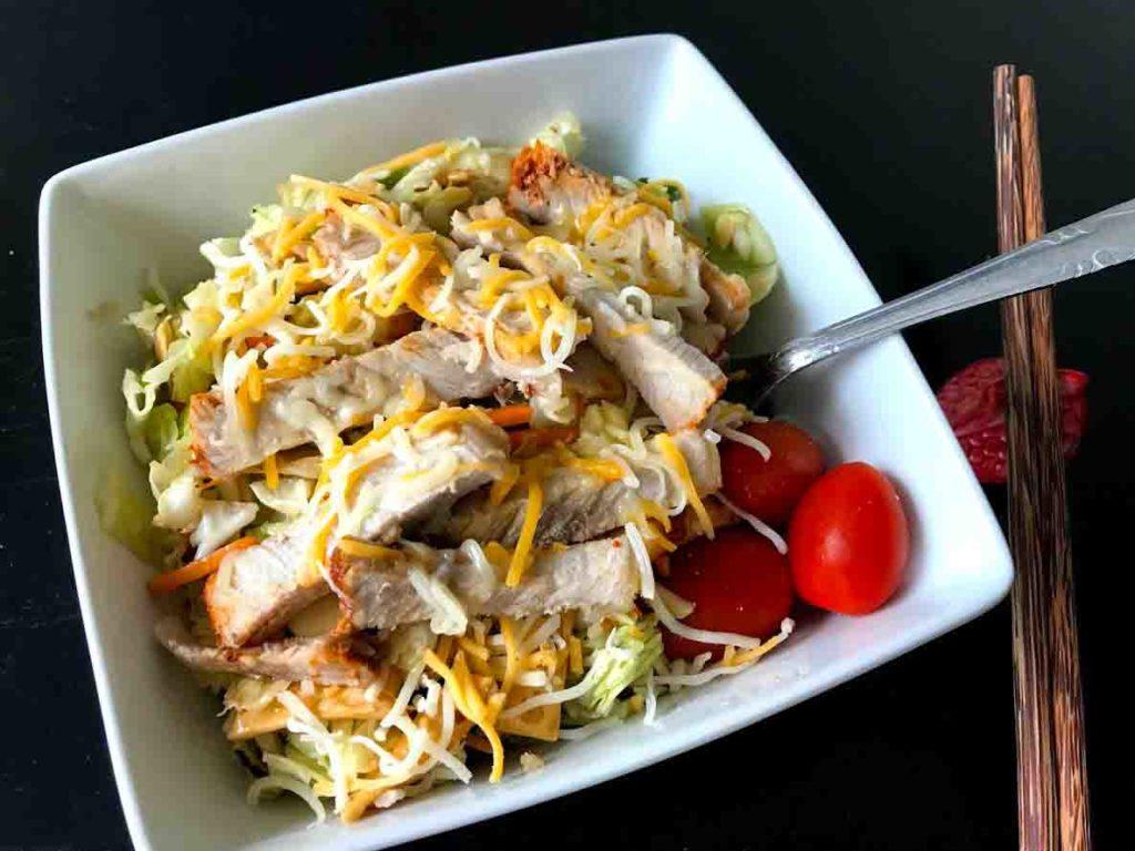 Lazy Cheapskate Chopped Cabbage Asian Salad