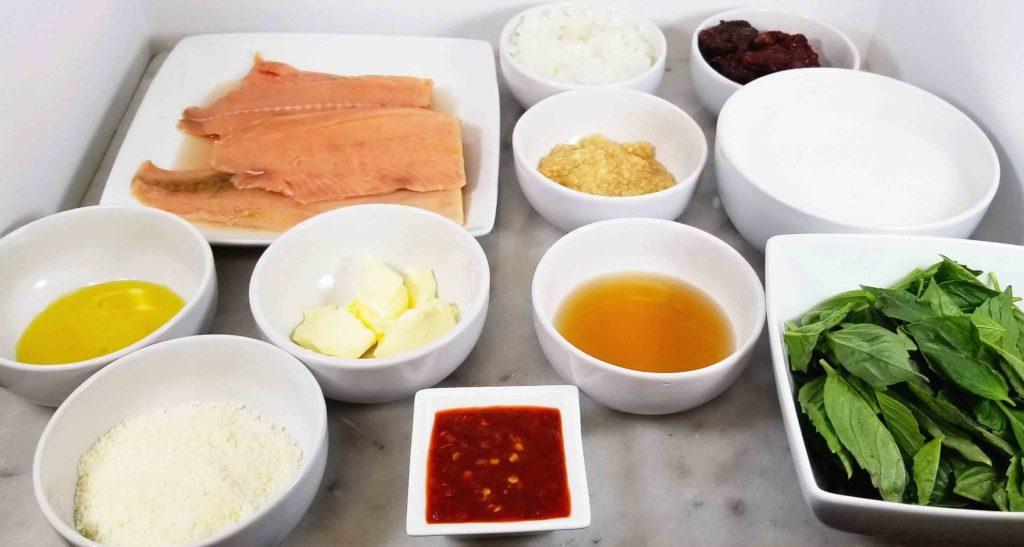 Thai fusion creamy garlic butter Tuscan fish