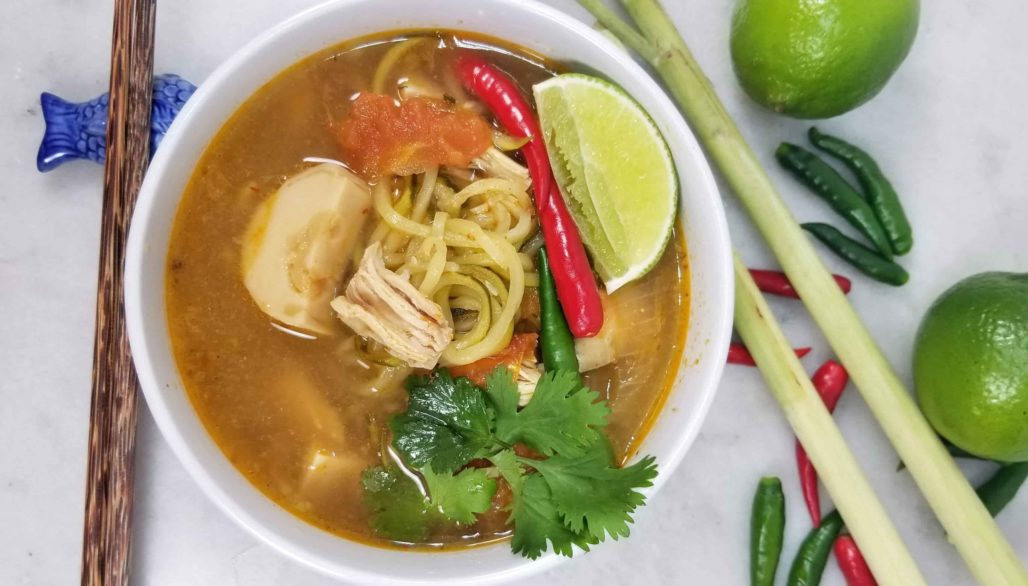Tom Yum Zoodles (Spiral Zucchini)