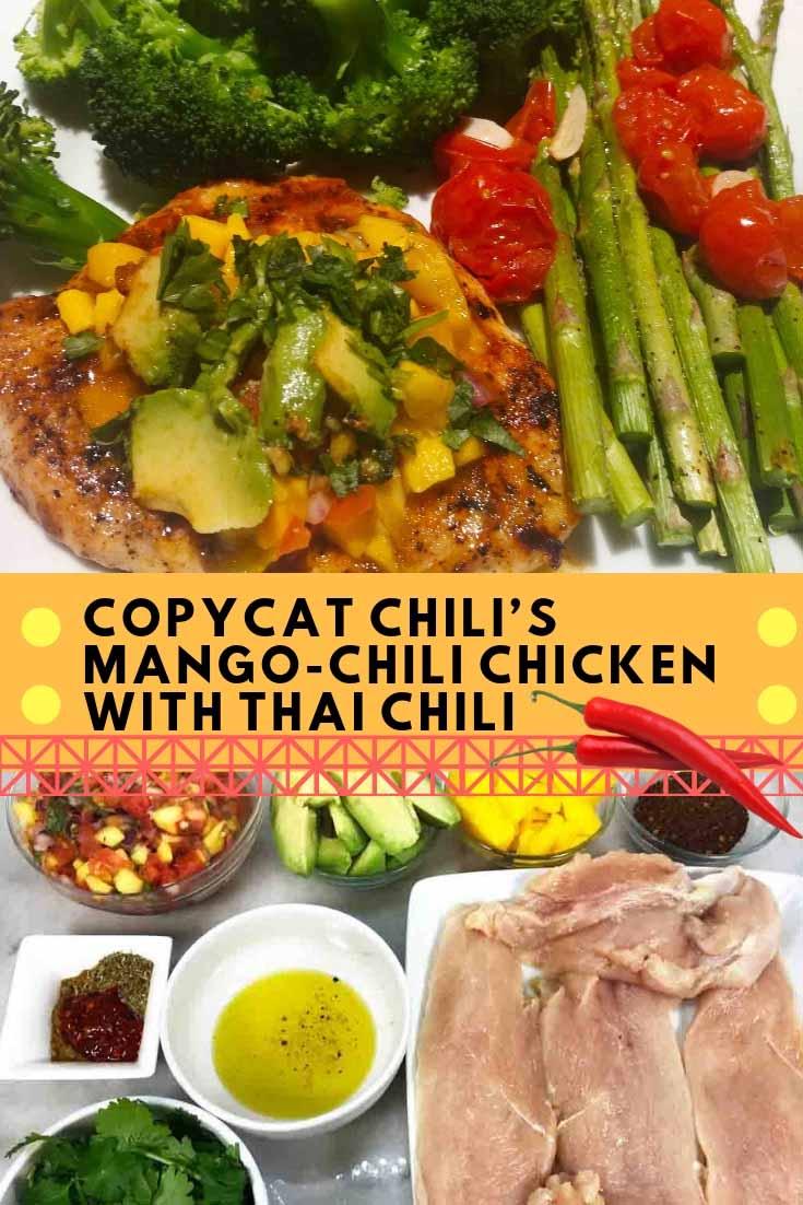 Copycat Chili's Mango Chili Chicken Pinterest Image