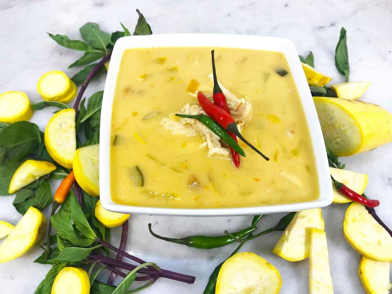 Healthy Instant Pot Thai Coconut Soup, Tom Kha