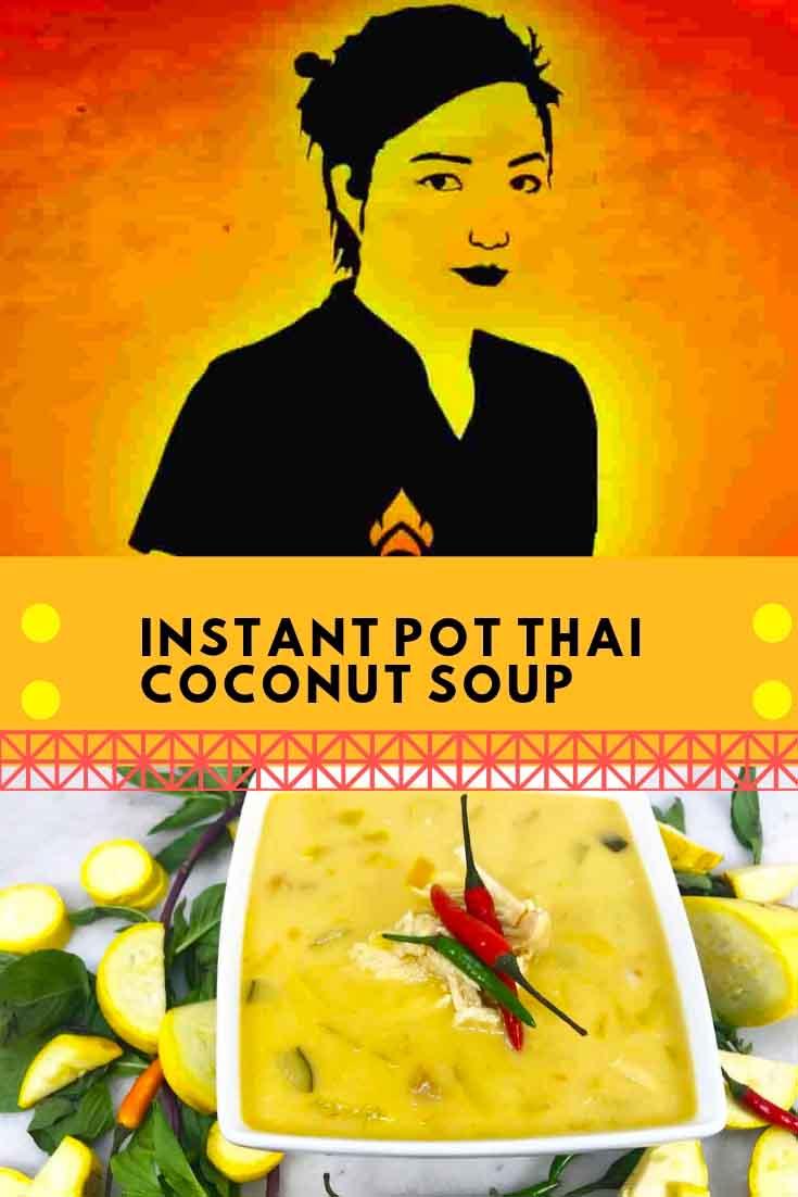 Instant Pot Thai Coconut Soup Instagram Image
