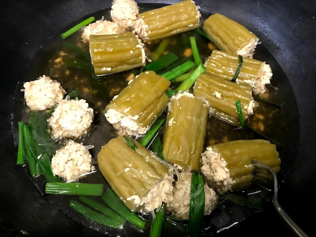 Thai Stuffed Bitter Melon Soup