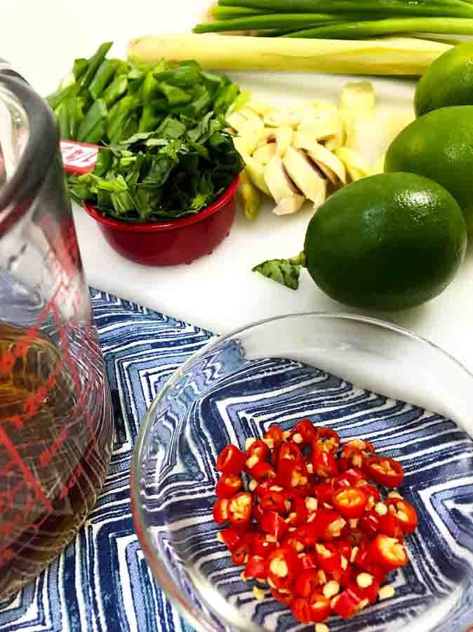 Thai Style Spicy Lemongrass Dressing-Sauce Ingredients