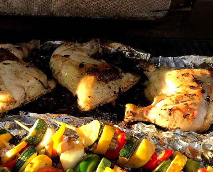 Grilled Thai Lemongrass Chicken on the Grill