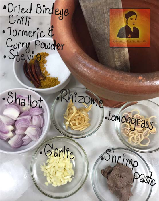 Khao Soi Paste Ingredients
