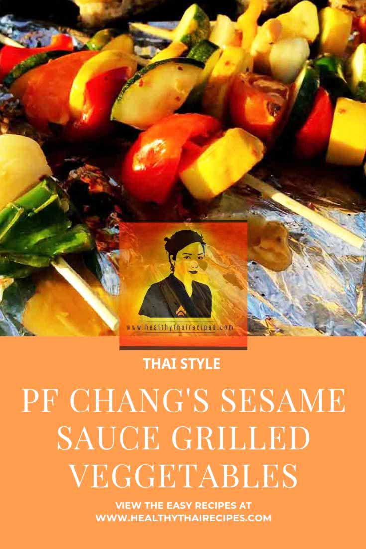 PF Chang's Sesame Sauce Grilled Vegetables Pinterest Image