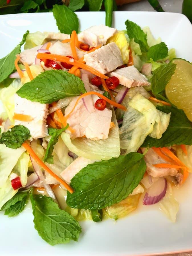 Super Light Thai Pork Chop Salad