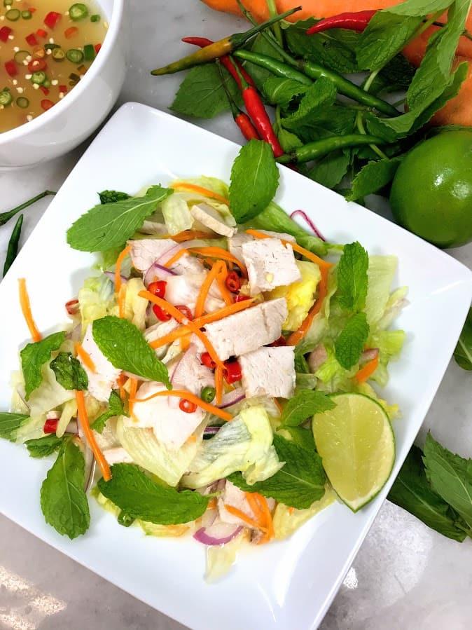 Thai Pork Chop Salad
