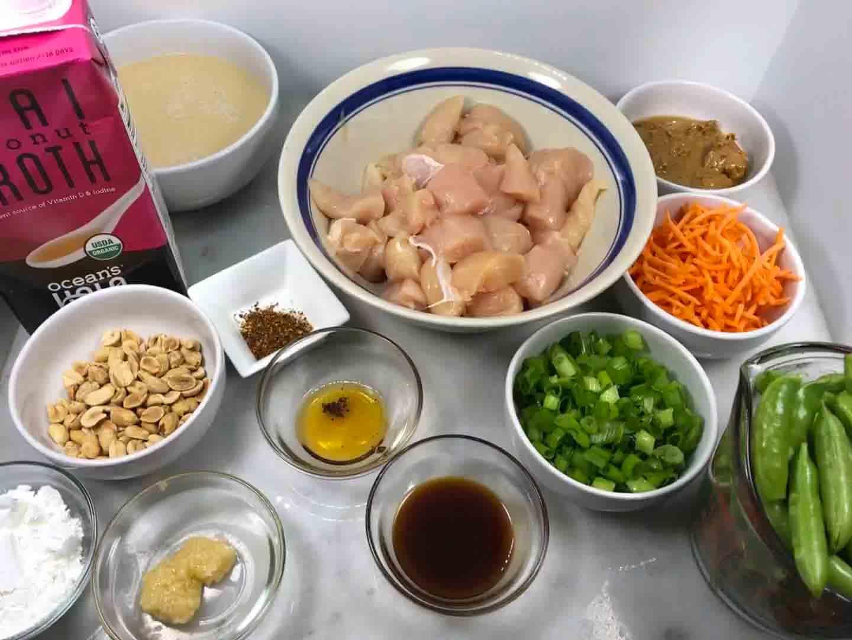 Instant Pot Peanut Chicken Ingredients