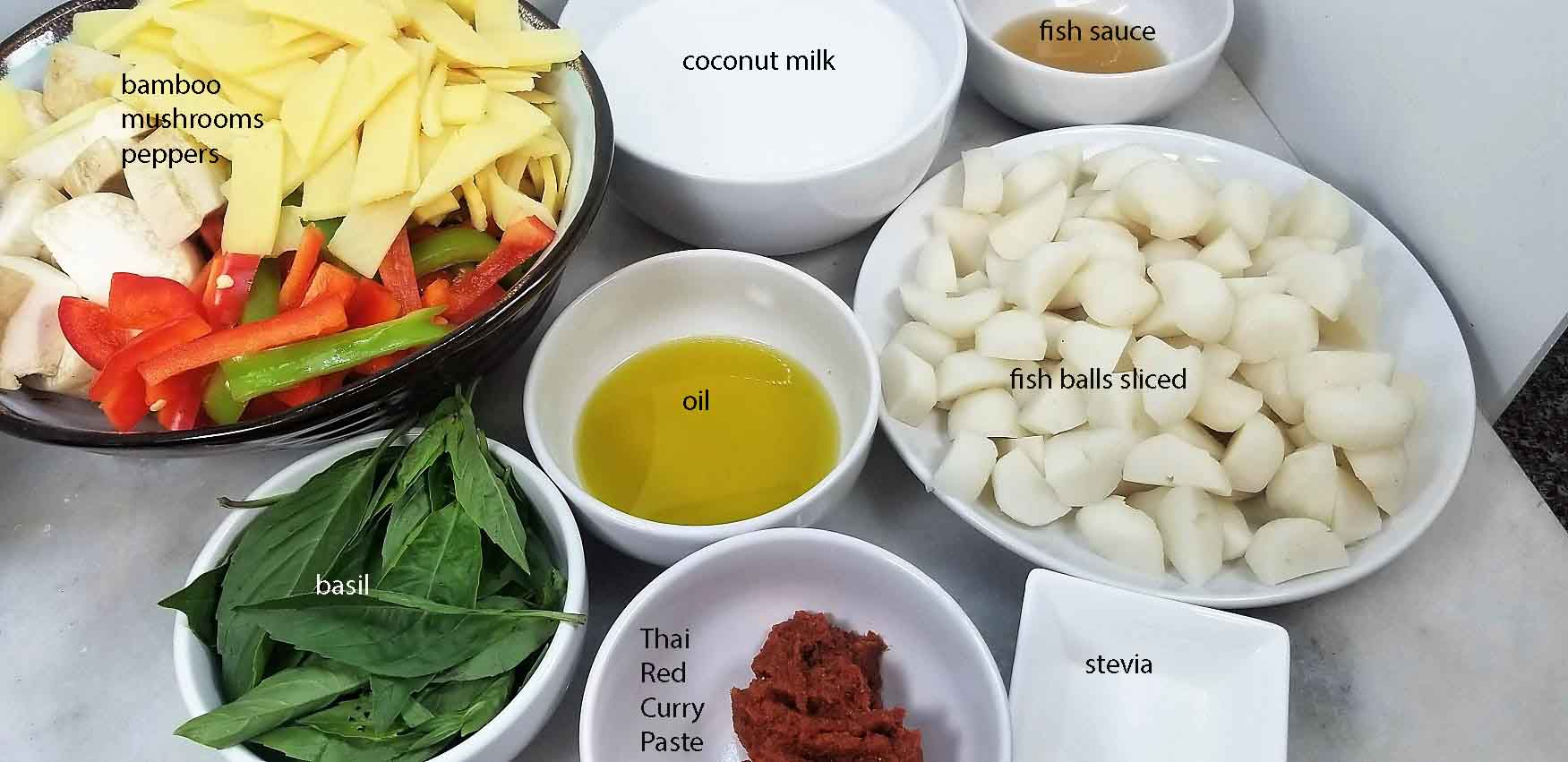 Thai Red Curry Buckwheat Noodle Soup Ingredients